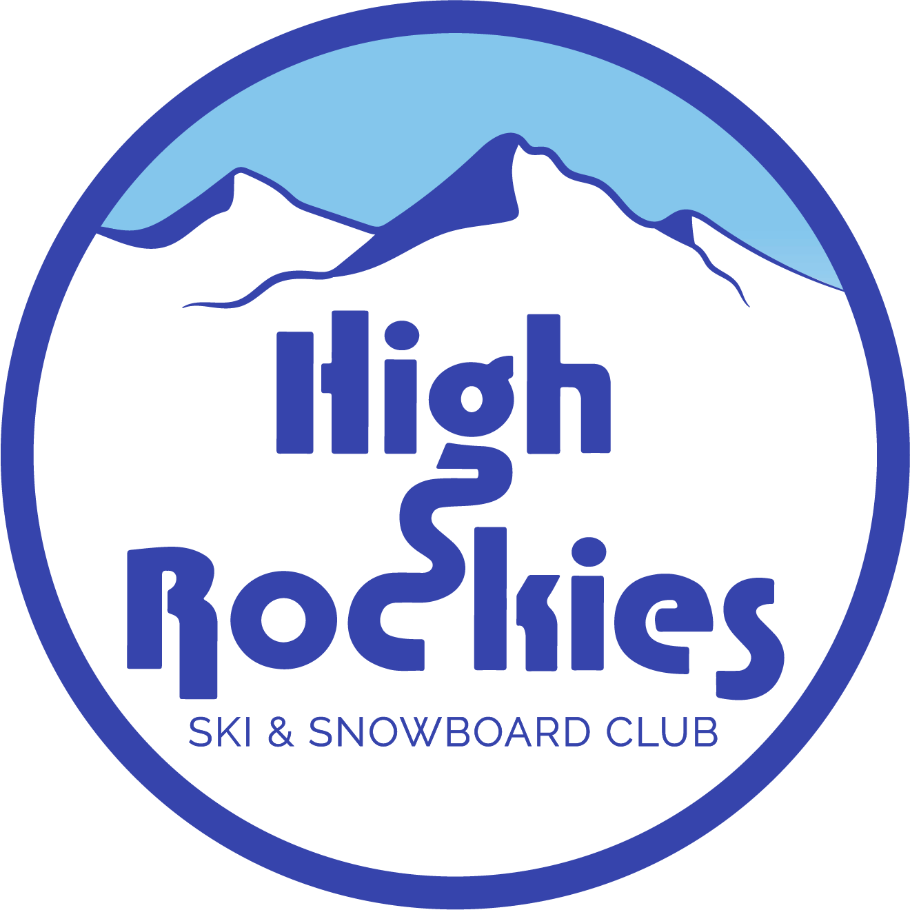 High Rockies Skies and Snowboard Club logo